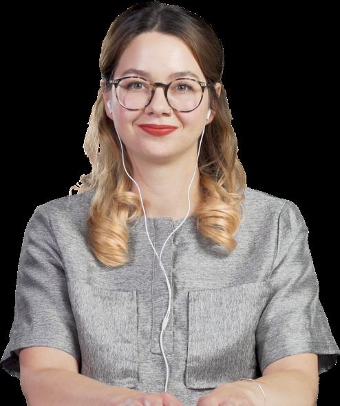 Teilnehmerin einer online Schulung von alfatraining